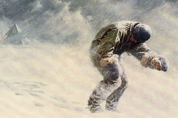 Captain-Oates-leaves-his-tent-Antarctica1912