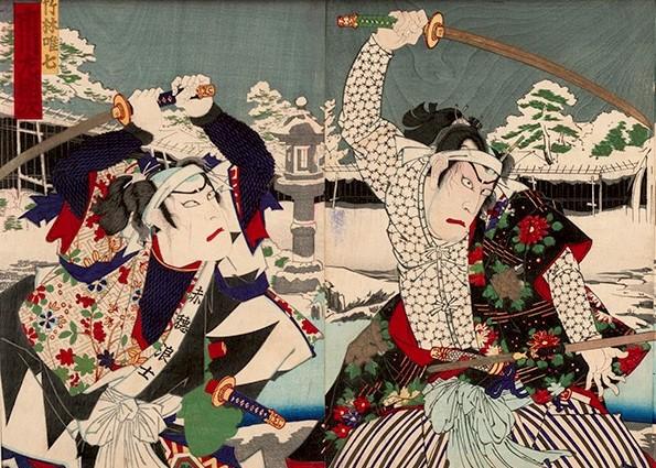Kunichika_Chushingura_Triptych