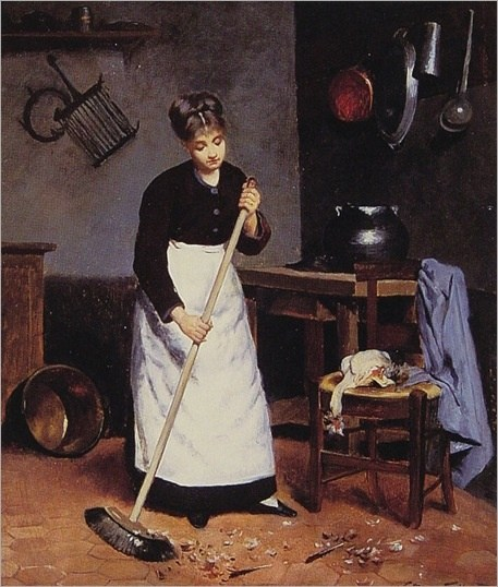 maid-sweeping